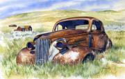 Abandoned  Paintings - Bodie Hot Rod by Mark Jennings