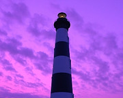 Al Powell Prints - Bodie Island Light Sunset Print by Al Powell Photography USA