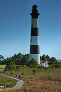Bodie Island Lighthouse Framed Prints - Bodie Island Lighthouse And Boardwalk II Framed Print by Steven Ainsworth