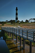 Bodie Island Lighthouse Framed Prints - Bodie Island Lighthouse And Boardwalk Framed Print by Steven Ainsworth