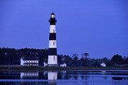 Bodie Island Lighthouse Framed Prints - Bodie Island Lighthouse at Dusk - FS000607 Framed Print by Daniel Dempster