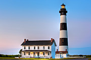 Bodie Island Lighthouse Framed Prints - Bodie Island Lighthouse Framed Print by Bernard Chen