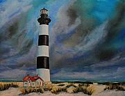 Outer Banks Paintings - Bodie Island Lighthouse by Ned Stacey