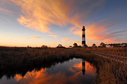 Cape Hatteras National Seashore Framed Prints - Bodie Island Lighthouse OBX Framed Print by Mark VanDyke