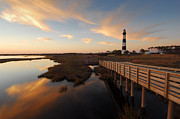 Cape Hatteras National Seashore Framed Prints - Bodie Island Sentinel Framed Print by Mark VanDyke