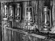 Mono Framed Prints - Bodie Lanterns Framed Print by Scott McGuire