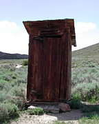 Bodie Outhouse 1 Print by Lydia Warner Miller