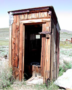 Bodie Out House Prints - Bodie Outhouse 2 Print by Lydia Warner Miller