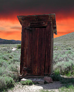 Bodie Out House Prints - Bodie Outhouse Print by Lydia Warner Miller