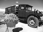 Old West Prints - Bodie Shell Gasoline Print by Philip Tolok