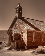 Sephia Photo Framed Prints - Bodie State Historic Park California Church Framed Print by Scott McGuire