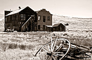 Old Wagon Prints - Bodie-Still standing Print by Gary Brandes