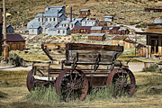 Steel Wheels Framed Prints - Bodie Wagon Framed Print by Kelley King