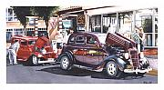 Red Street Rod Framed Prints - Bodies and Souls Framed Print by Mike Hill