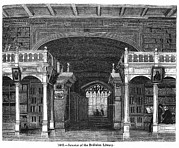 Old England Framed Prints - Bodleian Library, 19th Century Artwork Framed Print by Middle Temple Library