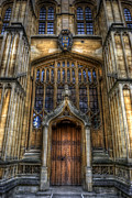 University School Framed Prints - Bodleian Library Door - Oxford Framed Print by Yhun Suarez