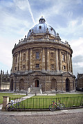 Round Prints - Bodlien Library Radcliffe Camera Print by Jane Rix