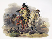 1833 Art - Bodmer: Blackfoot Horseman by Granger