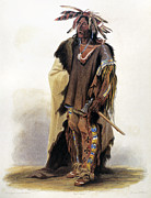 1833 Prints - Bodmer: Sioux Chief Print by Granger