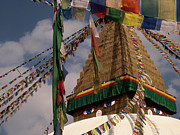 Religious Art Photos - Bodnath Stupa by Nina Papiorek