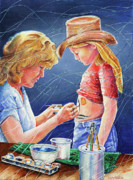 Cowboy Hat Paintings - Body Paint at Hootin and Hollarin by Carolyn Coffey Wallace