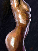 Nude Females Paintings - Bodyscape 16 by James Shepherd
