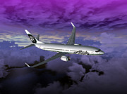 Airlines Digital Art - Boeing 737 NG 001 by Mike Ray