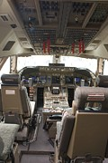 Boeing 747 Photos - Boeing 747-8 Flight Deck by Mark Williamson