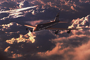 Boeing 747 Metal Prints - Boeing 747 Metal Print by Mike Miller