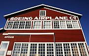 Boeing Posters - Boeing Airplane Hanger Number One Poster by David Lee Thompson