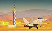 Us Navy Originals - Boeing FA18 Does Reno by Gus McCrea
