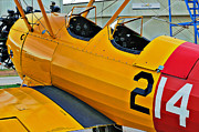 Stearman Photo Prints - Boeing N2S-4 Stearman Kaydet Print by Charles Dobbs
