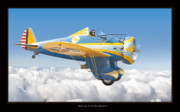 Airplane Artwork Posters - Boeing P-26 Peashooter Poster by Larry McManus