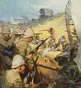 South Africa Painting Prints - Boer War Skirmish Print by James Edwin McConnell