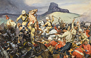 Attack Paintings - Boers and Natives by James Edwin McConnell
