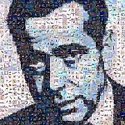 Photomosaic Prints - Bogart Print by Gilberto Viciedo