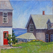 Massachusetts Coast Paintings - Bogdanov House Monhegan by Thor Wickstrom