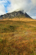 Glen Etive Prints - Boggy ground below the Buckle Print by Gary Eason