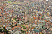 Aerial Posters - Bogota City Center Poster by Ixefra