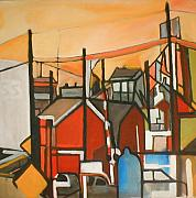 Suburban Paintings - Bogota Industrial by Ron Erickson