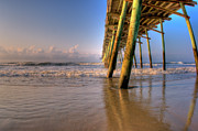 Summer Vacation Framed Prints - Bogue Inlet Pier Framed Print by David Hahn