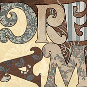 Cream Flower Posters - Bohemian Dream Poster by Debbie DeWitt