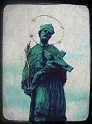 Prague Mixed Media Posters - Bohemian Saint Poster by Linda Woods