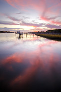 Charleston Sunset Posters - Bohicket Sunset Charleston Lowcountry Poster by Dustin K Ryan