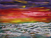Sunrise Paintings - Boiling Sea by James Bryron Love