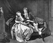 Settee Prints - BOILLY: DEFÉNDS MOI, c1795 Print by Granger