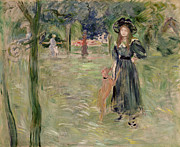 Park Paintings - Bois de Boulogne by Berthe Morisot
