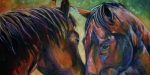 Oils Paintings - Bold Hearts by Diane Williams