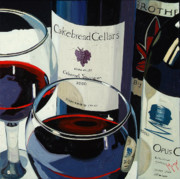 Red Wine Painting Prints - Bold Reds Print by Christopher Mize