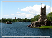 Bay St. Lawrence Posters - Boldt Castle Alster Tower Playhouse and Mother in Laws House Poster by Rose Santuci-Sofranko